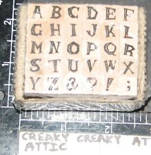PSX ALPHABET 30 RUBBER STAMPS RETIRED TINY