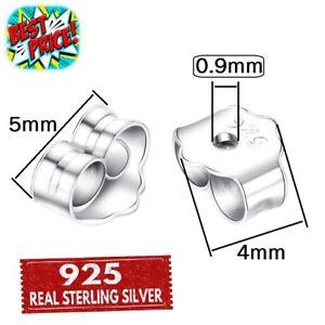 STERLING SILVER BUTTERFLY EARRING BACKS 4 POST STUD EAR PIN REAL 925 SCROLL STOP
