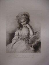 Grande gravure Portrait de Louise Marie Adelaïde de Bourbon  Duchesse d'Orléans