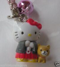 Hello kitty kitty & dog min key chain Sanrio Original from Kagoshima JAPAN