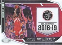 2019-20 Certified Basketball Raise the Banner #1 Kawhi Leonard