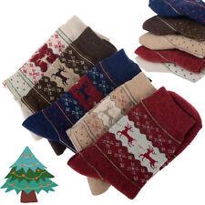 5 Pairs Women Winter Socks Christmas Gift Warm Wool Deer Cute Snowflake Socks