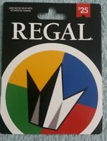 Regal Entertainment $25 Traditional Physical Gift Card United Artist Edwards