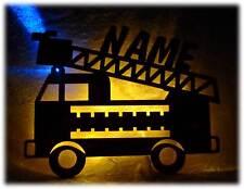 Feuerwehr Lampe Nachtlicht mit Name nach Wunsch - Geschenke für Feuerwehr Fans