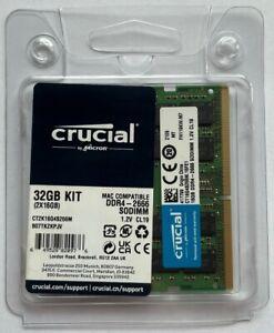 Crucial 32GB (2x16GB) PC4-21300 DDR4 2666 SODIMM Memory CT2K16G4S266M 5