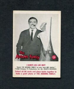 1964 The Addams Family TV Show Donruss Trading Card Number 24 Gomez Live Bait