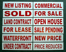 (12)   6 x 24 Real Estate Sign Riders 2 sided Outdoor NEW- FREE SHIPPING!