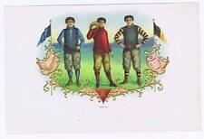 yale princeton harvart, athletics, original inner cigar label, three athelets