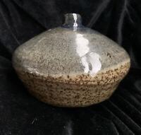 Vintage Bud Vase Studio Art Pottery  Glazed Small Earthenware Weed Pot