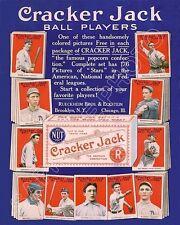 1915 Cracker Jack Baseball Cards Store Counter Advertising Standup Sign Repro