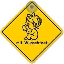 RoadSign + Saugnapf Schild gelb Australien Auto NEU 41