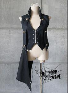 Asimetric Long Waistcoat Punk Rave Y-183 Lolita Emo Visual Kera Gothic
