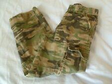 Cherokee Boys 8 CAMOUFLAGE CAMO CARGO PANTS Army Green Cotton 24W X 22L