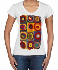 Kandinsky Colour Study Square Large Print Women's V Neck T-Shirt