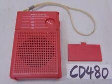 VINTAGE REALISTIC TRANSISTOR POCKET RADIO 12-203 PINK POCKET AM RADIO TESTED