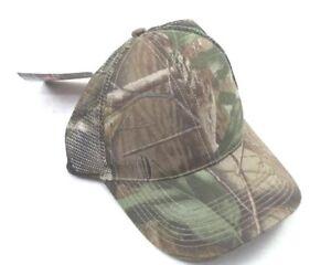 Realtree Camouflage Snapback Mesh Trucker Hat Real Tree HardWood HD Camo Plain