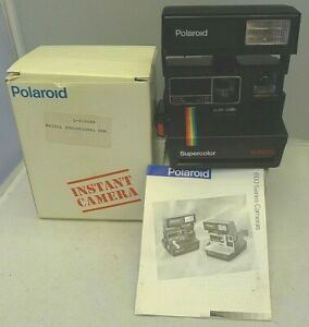 Polaroid 600 Instant Camera SuperColor 635 CL +Box & Manual  TESTED