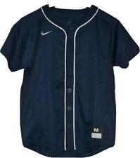 New Nike Boys Size Medium Vapor Baseball Dinger Full Button Practice Jersey