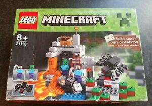 LEGO MINECRAFT THE CAVE STEVE ZOMBIE & SPIDER 21113 NEW & SEALED 8+ CHRISTMAS