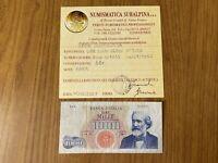 BANCONOTA LIRE 1000 VERDI 1º TIPO 1964 SERIE SOSTITUTIVA Z 04 RARA BB+