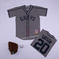 Throwback Grays Josh Gibson #20 Baseball Jersey Stitched Homestead Jerseys
