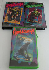 GOOSEBUMPS Lot of 3 VHS Tapes,Werewolf of Fever Swamp,Haunted Mask, Terror Tower