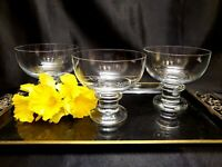 Thomas Rosenthal Crystal Footed Dessert / Fruit Bowls / Champagne Glasses (3)