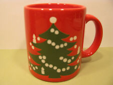 Christmas Tree Mugs Set of 4 12oz Waechtersbach German Stoneware New