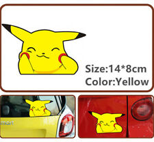 Pokemon Pikachu Cute Face Fuel Gas Cover Car  Decals Emblems Graphic sticker