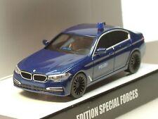 Herpa BMW 5er Berline gsg9 spécial Swat bleu met. - 936231 - 1:87
