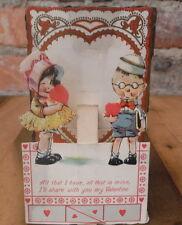 Vintage Valentine's Day Cards 1920s Lot Mechanical Junk Drawer Estate Paper