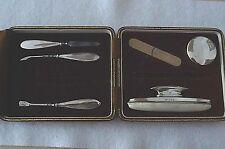 Vintage Hallmarked Silver Manicure Set in Original Goldsmiths & Silversmiths Box