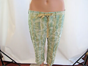 DAVID MEISTER Pants Womens Floral Jacquard   Cropped Capri Size 6