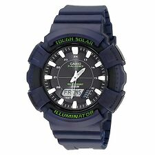 Casio Men Solar AD-S800WH-2AV Watch with Blue Resin Band