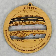 Jupiter-Space Astronomy Solar System Planet Science Timber Green wooden ornament