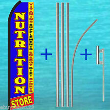 Nutrition Store Swooper Flag + 15' Tall Pole Kit Flutter Feather Banner Sign