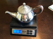 Antique Silver Teapot With Wood Handle Recently Polished