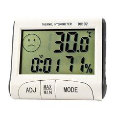 Good LCD Digital Alarm Clock Thermometer temperature Humidity Hygrometer Meter