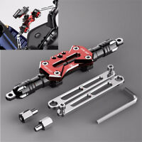 1x CNC Moped Scooter Handle Drag Bar Bracket Mount Stand for Clamp Charger Light