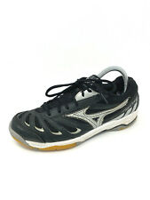 Mizuno Wave Rally 5 Womens Size 9 Black Silver Volleyball Athletic Sneakers EUC