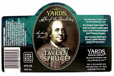 Yards Brewing POOR RICHARD'S TAVERN SPRUCE beer label PA 12oz Var. #1