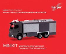 HERPA MiniKit 1:87 Feuerwehr Mercedes-Benz Arocs M Empl ULF Bausatz rot #013055