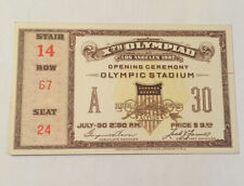 1932 Los Angeles Olympic Opening Ceremony Ticket Excellent Condition