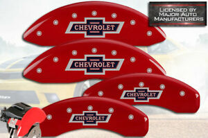 """2015-2020 """"Chevrolet"""" Tahoe Front + Rear Red MGP Brake Disc Caliper Covers 4pc"""