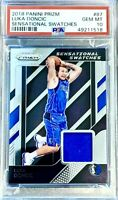 PSA 10 RC Luka Doncic 2018-19 Panini Prizm Sensational Swatch Silver/Blue Rookie
