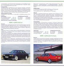 BMW ALPINA B3 E36 B10 E34 B11 B12 E32 E31 Prospekt Brochure 1993 39