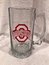 Huge Ohio State Buckeyes 7 Inch Team Logo Glass Beer Mug, Super Nice!