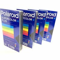 Polaroid Blank Video VHS T-120 Tapes Lot of 4 New Factory Sealed