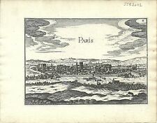Antique map, Paris