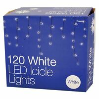 120 LED 8 Function Christmas Icicle Lights  Indoor Outdoor Hanging Decoration